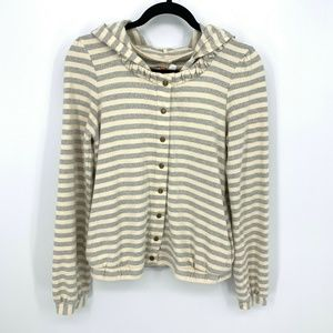 Saturday Sunday Anthropologie Hoodie Jacket Stripe